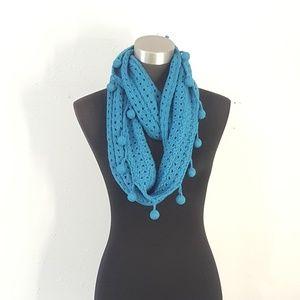 Mudpie Deep Turquoise Crochet Infinity Scarf